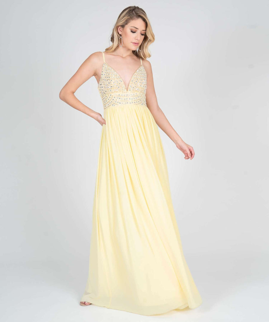 Selena Beaded Ball Gown Dress-Prom-Speechless.com