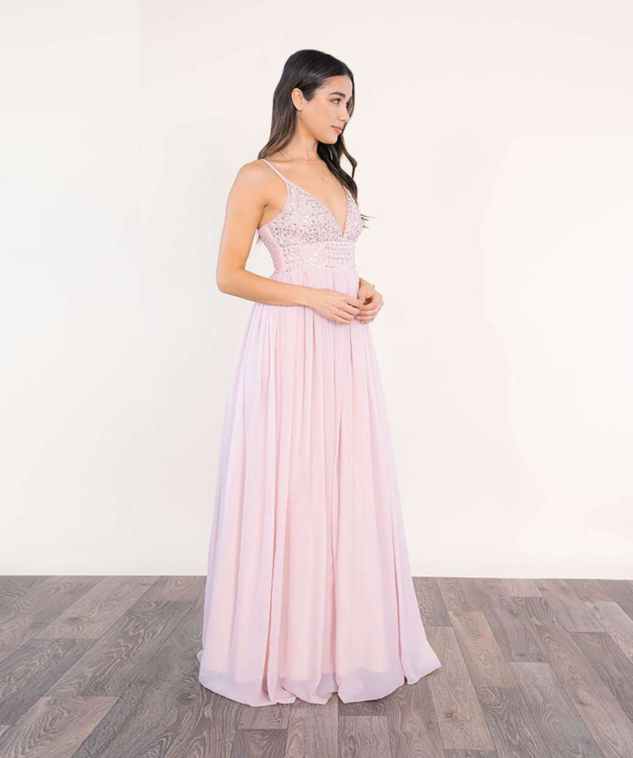 Selena Beaded Ball Gown Dress-Speechless