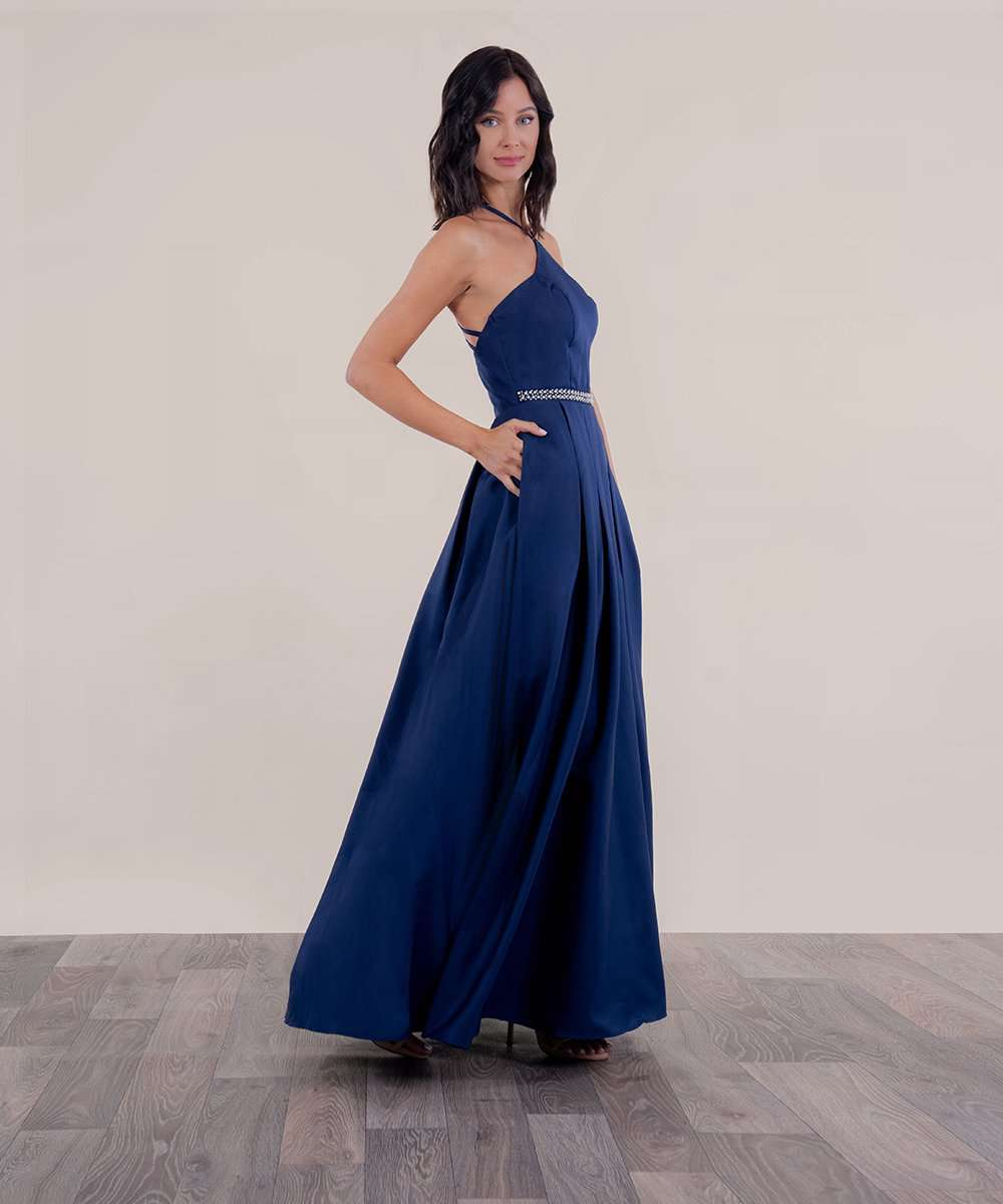 Brie Strappy Back Ball Gown Dress