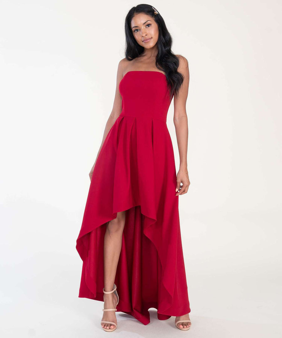 Kendall Exclusive Tube Dress-New-0-Crimson-Speechless