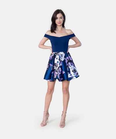 Violet Exclusive Bubble Dress-Formal Dress-Speechless