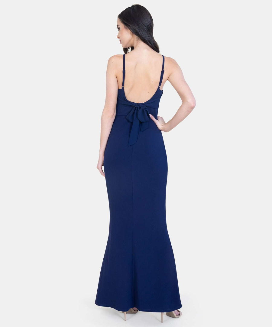 Bow Down Maxi Dress-Speechless