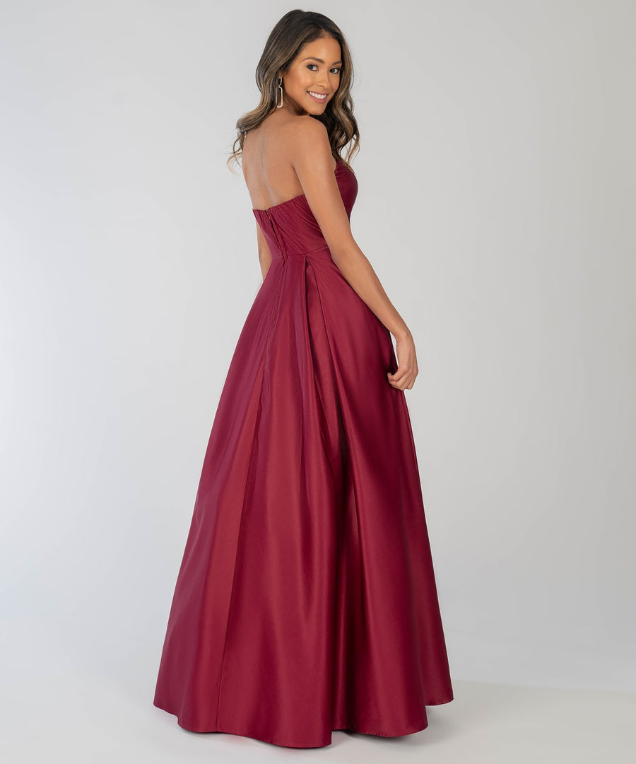 Enchanted Evening Ball Gown-Wine-Prom Dress-Speechless.com