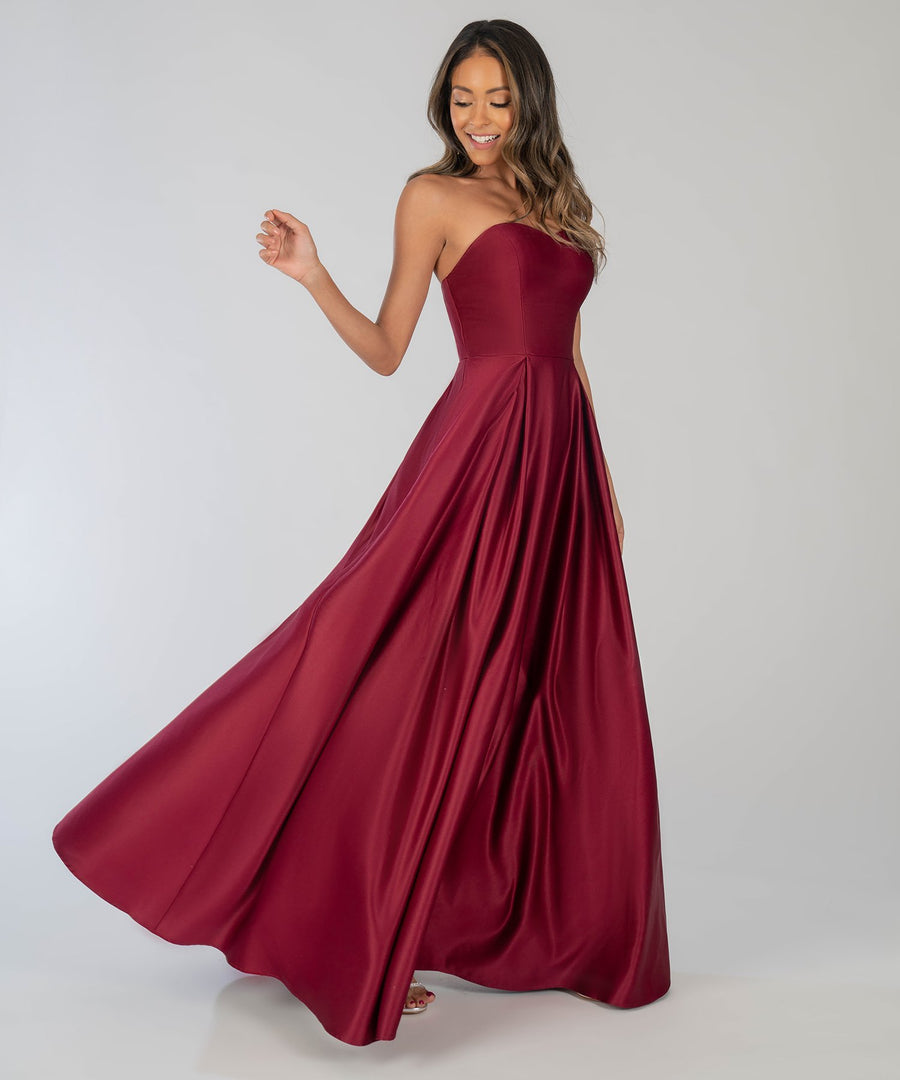 Enchanted Evening Ball Gown- Wine-Prom Dress-Speechless.com