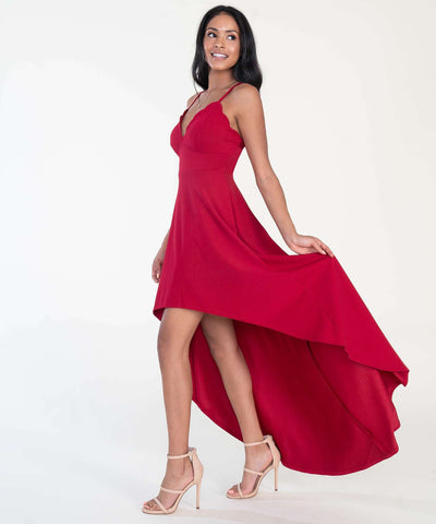 Back To Basics Hi-Low Dress-Formal Dress-0-Crimson-Speechless