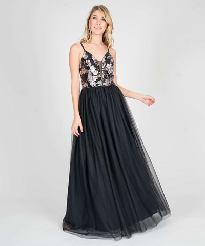 Dove Sequin Ball Gown