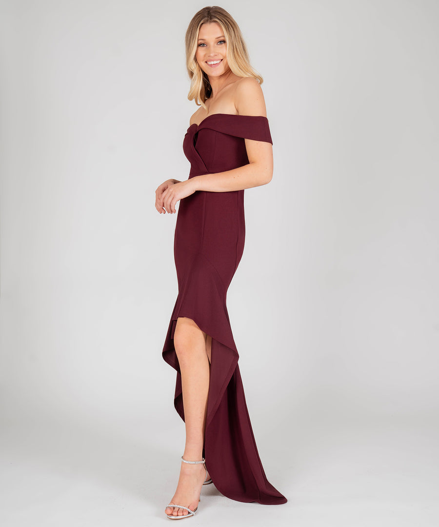 Bella Sweetheart Ruffle High-Low Dress-Formal Dress-Speechless