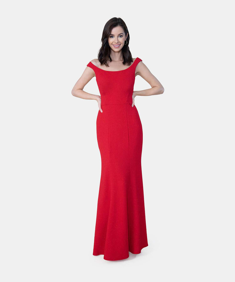 Duchess Exclusive Bateau Neck Dress