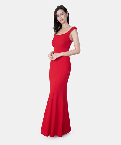 Duchess Exclusive Bateau Neck Dress - Image 2