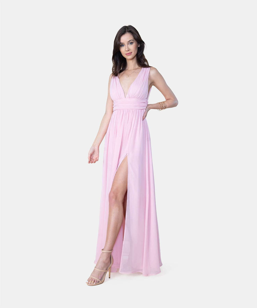 Harley Exclusive Deep V Maxi Dress-Formal Dress-Speechless