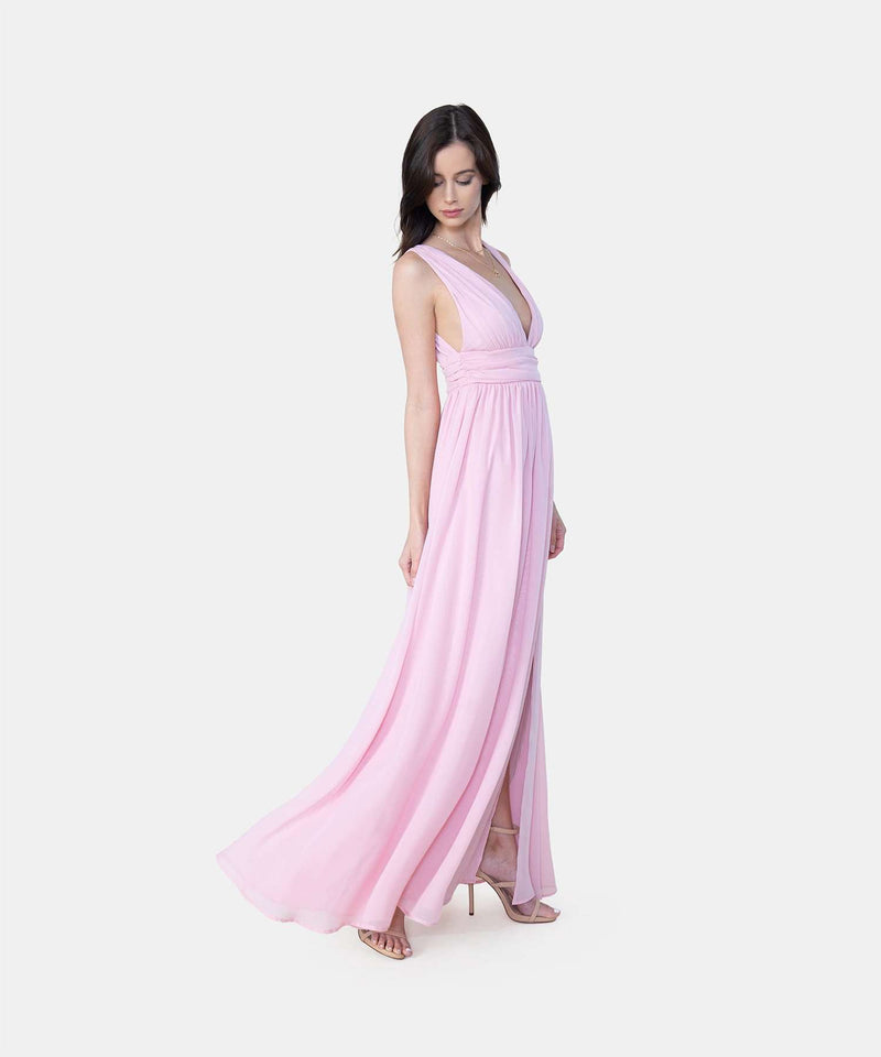 Harley Exclusive Deep V Maxi Dress-Speechless