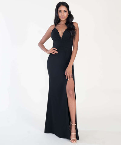 Back To Basics Maxi Dress-Formal Dress-0-Black-Speechless
