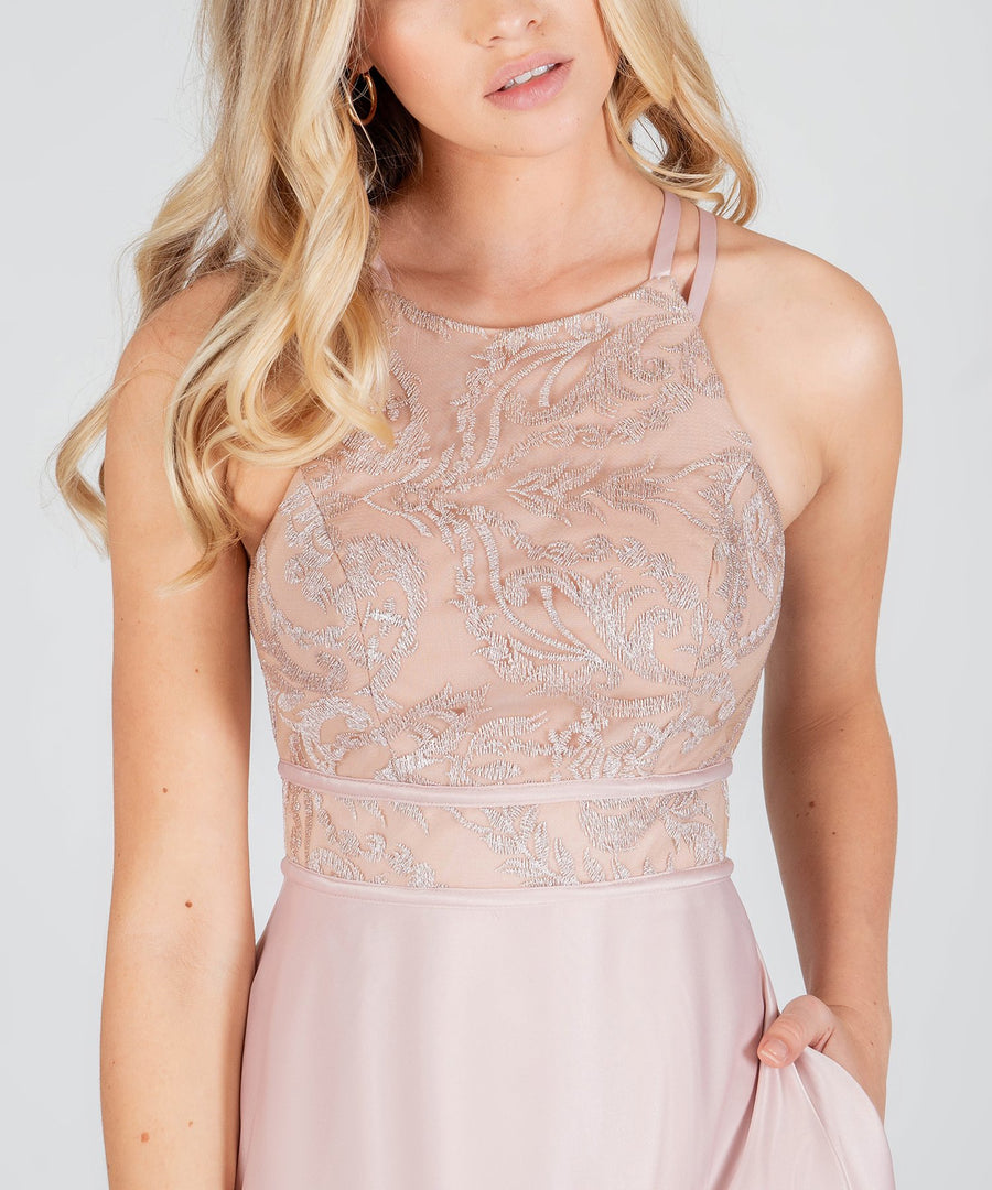Desiree Embroidered Maxi Dress-Formal Dress-Speechless