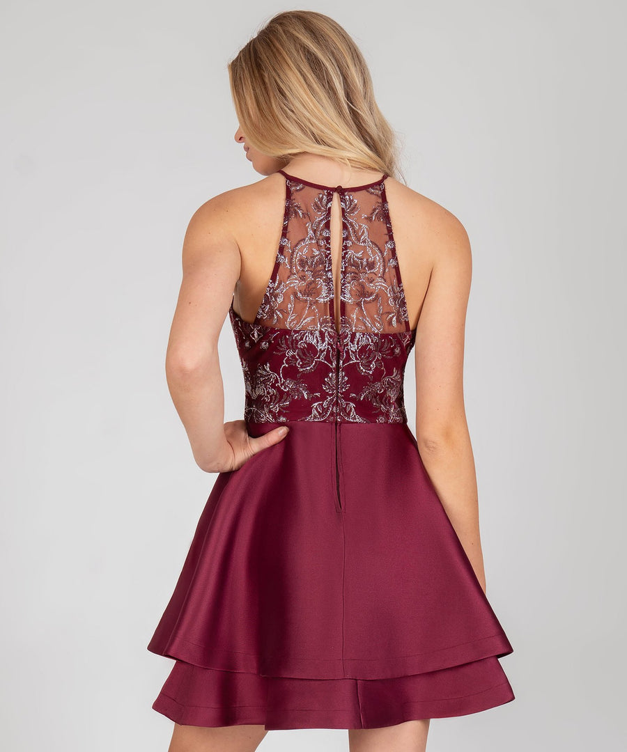 Dance The Night Away Party Dress-Burgundy-Speechless.com
