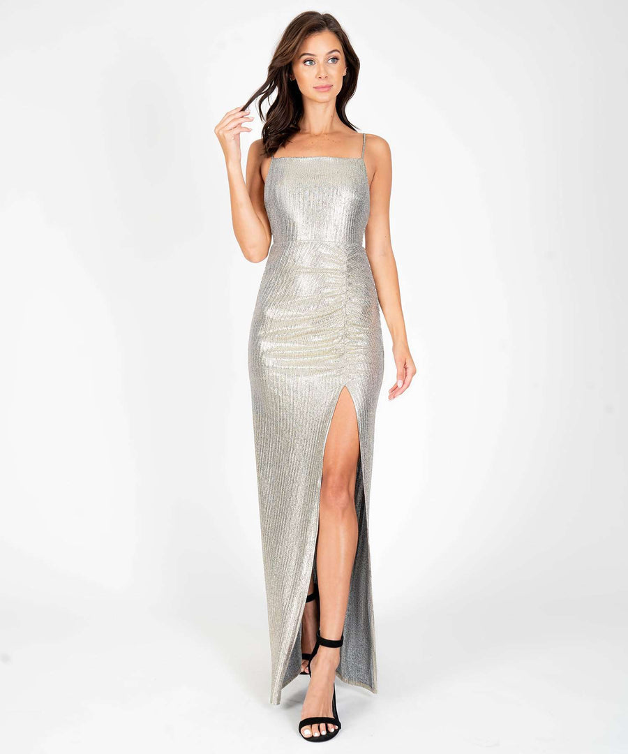Glow The Extra Mile Maxi Dress-Formal Dress-0-Gold-Speechless.com