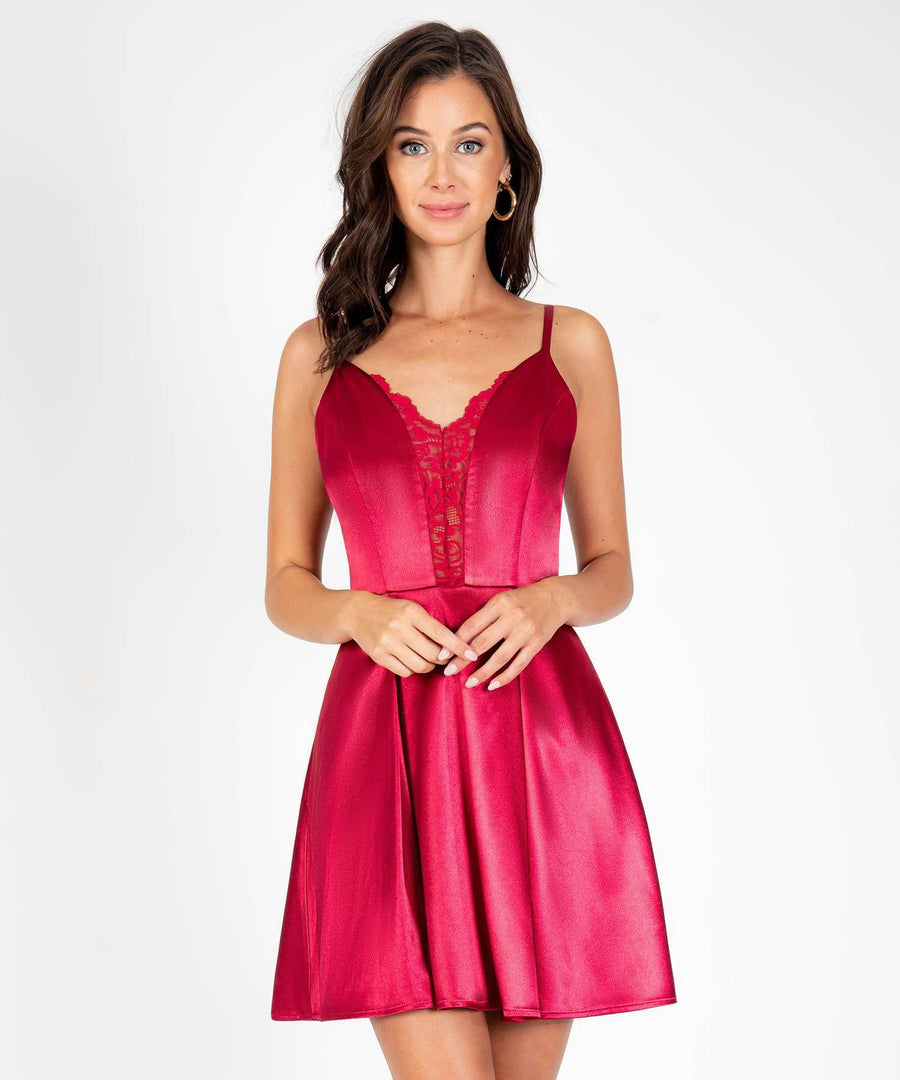 Have Yourself A Merry Little Skater Dress-Dressy Dresses-0-Red-Speechless.com
