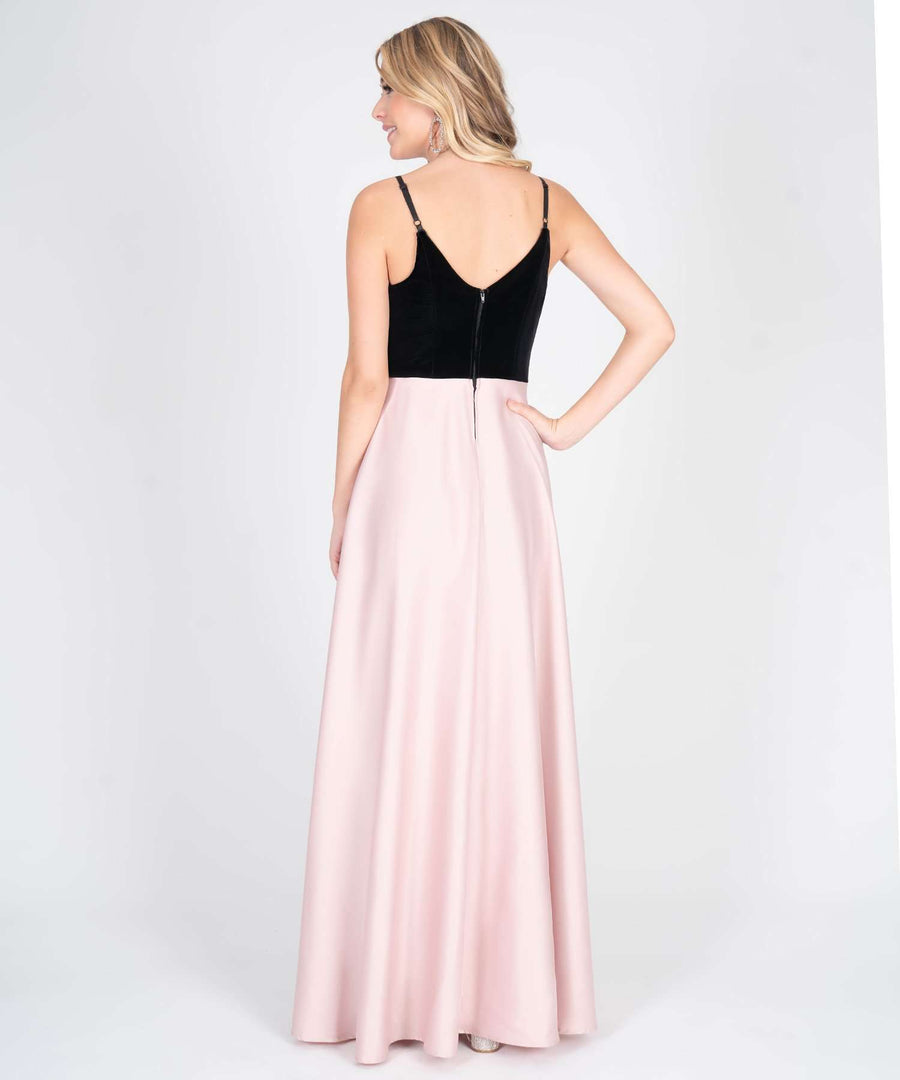 Ella Velvet Two Tone Maxi Dress-New-Speechless.com