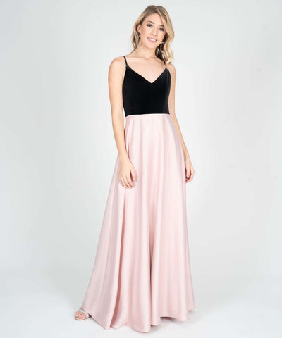 Ella Velvet Two Tone Maxi Dress - Image 2
