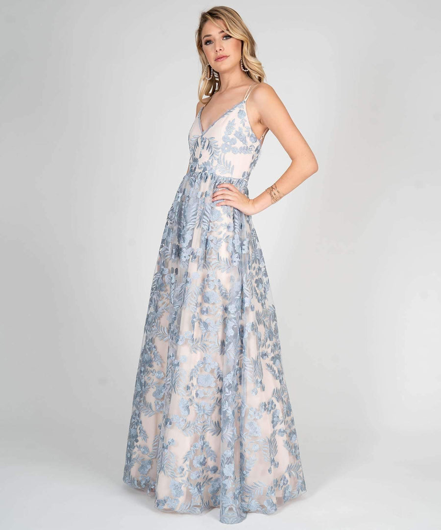 Alexandria Embroidered Ball Gown- Prom Dresses- Speechless