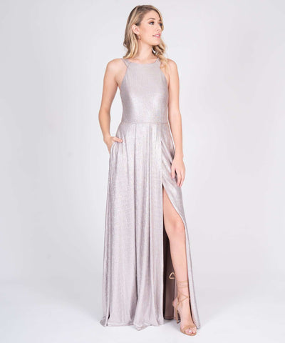 Madi Metallic Maxi Dress - Image 2