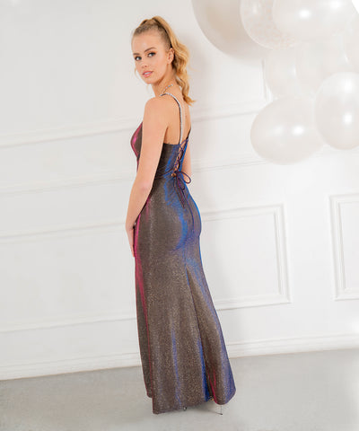 Jordan Metallic Shimmer Maxi Dress