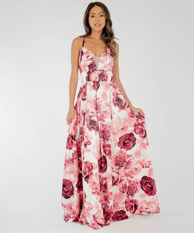 Dove Printed Lace Back Maxi Dress - Image 2