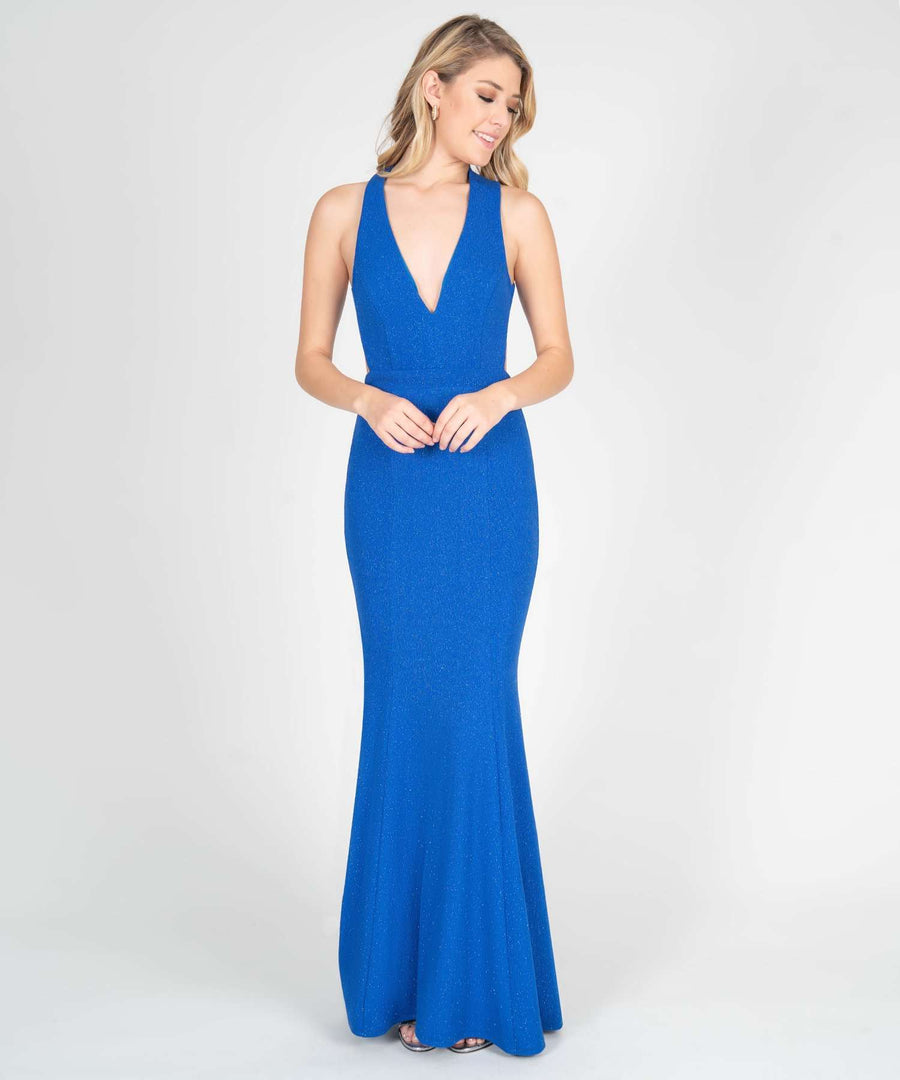 Hanna Open Back Maxi Dress-New-0-Cobalt-Speechless.com