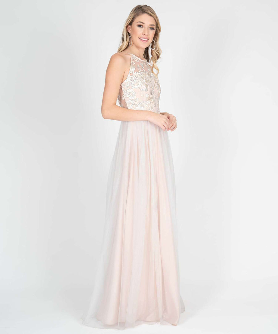 Blake Embroidered Ball Gown Dress-Prom-Speechless.com