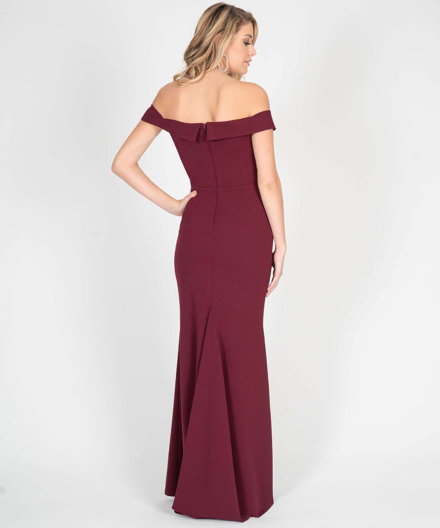 Beatrice Off The Shoulder Maxi Dress-Prom-Speechless.com