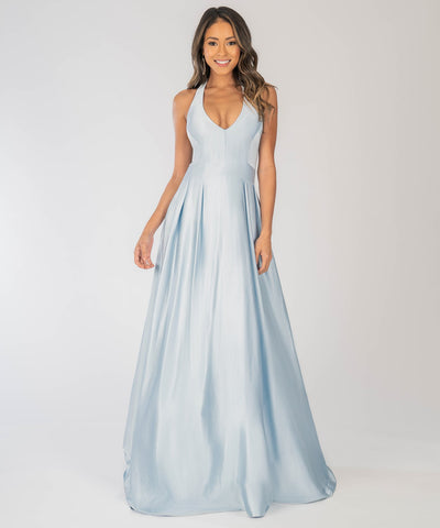 Mila Exclusive Halter Satin Ball Gown - Image 2
