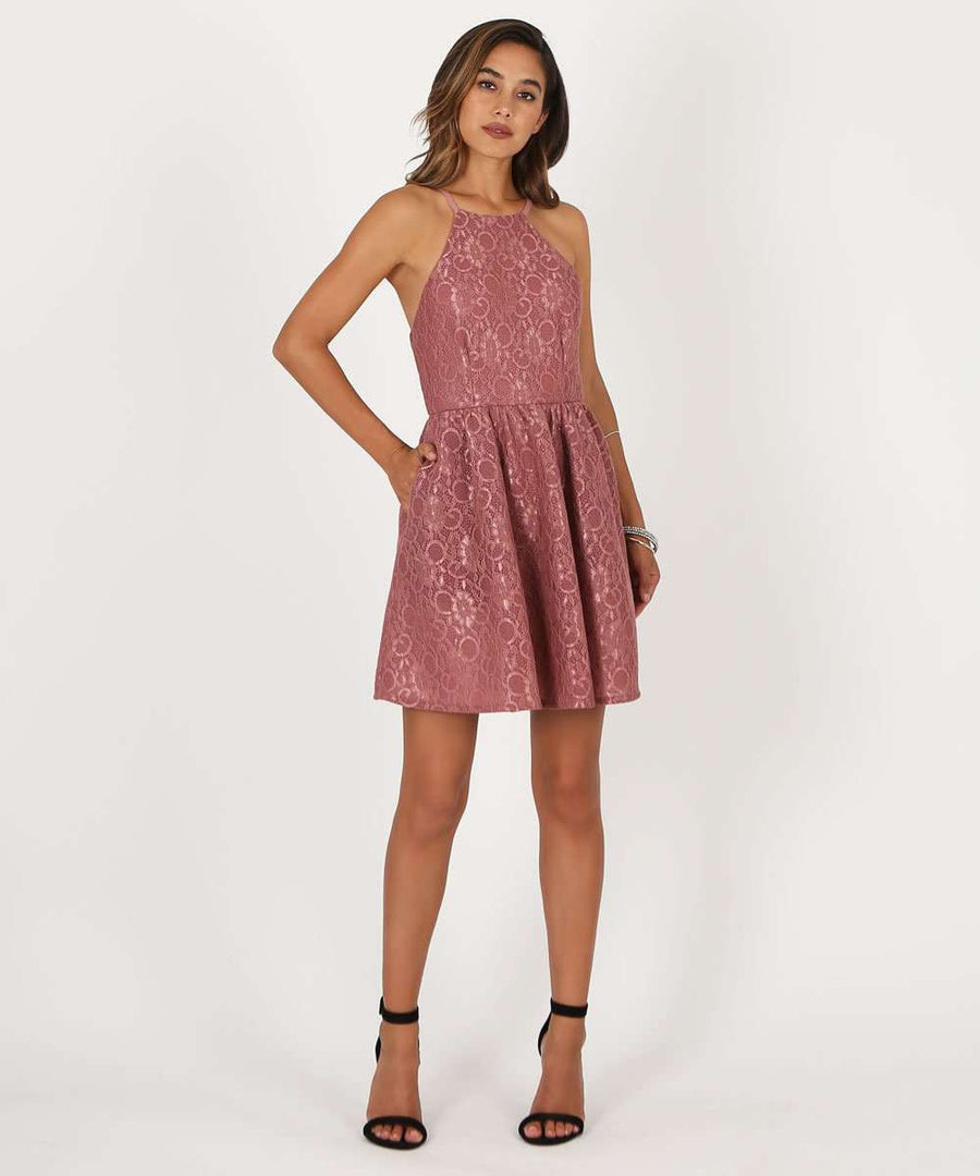 Sweetest Thing Lace Party Dress-Dressy Dresses-1-New Mauve-Speechless