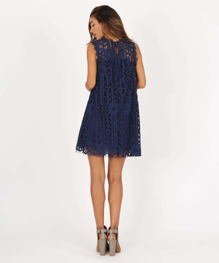 Rachel Lace Shift Dress-Speechless