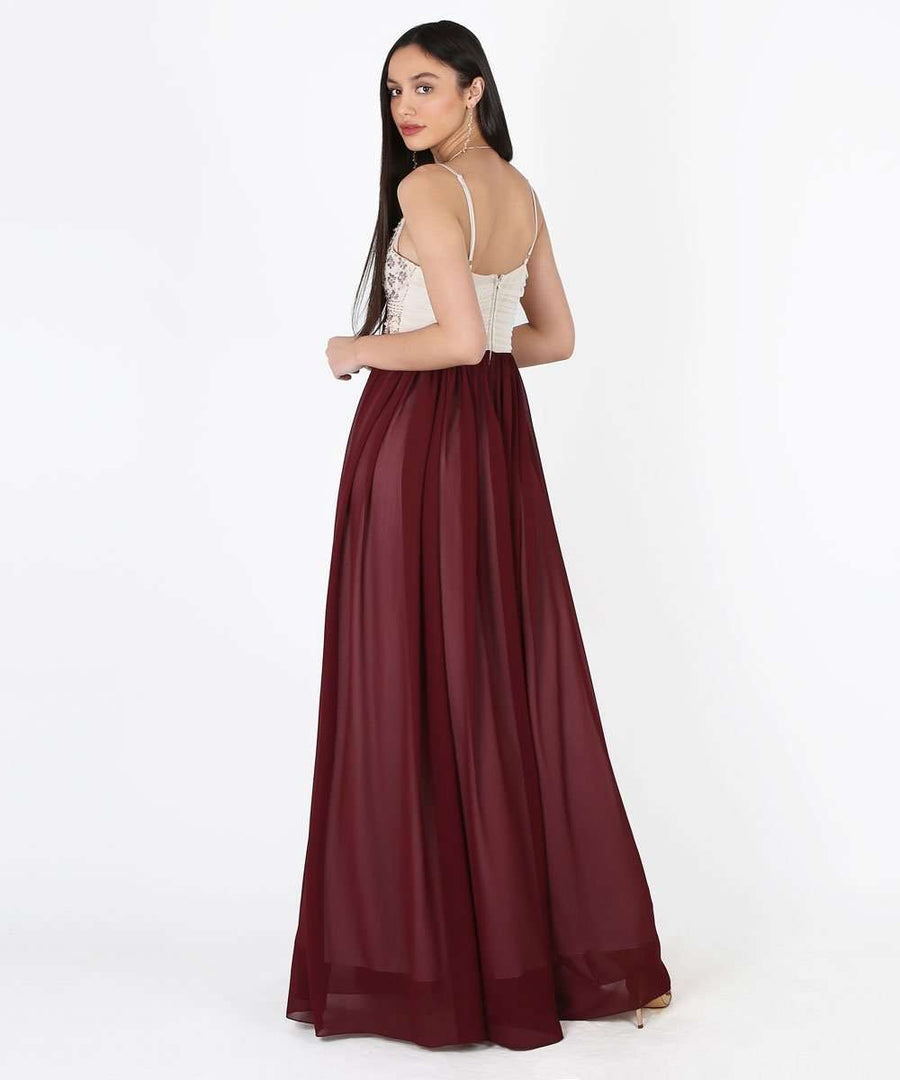 Selena Exclusive Beaded Ball Gown Dress-Speechless