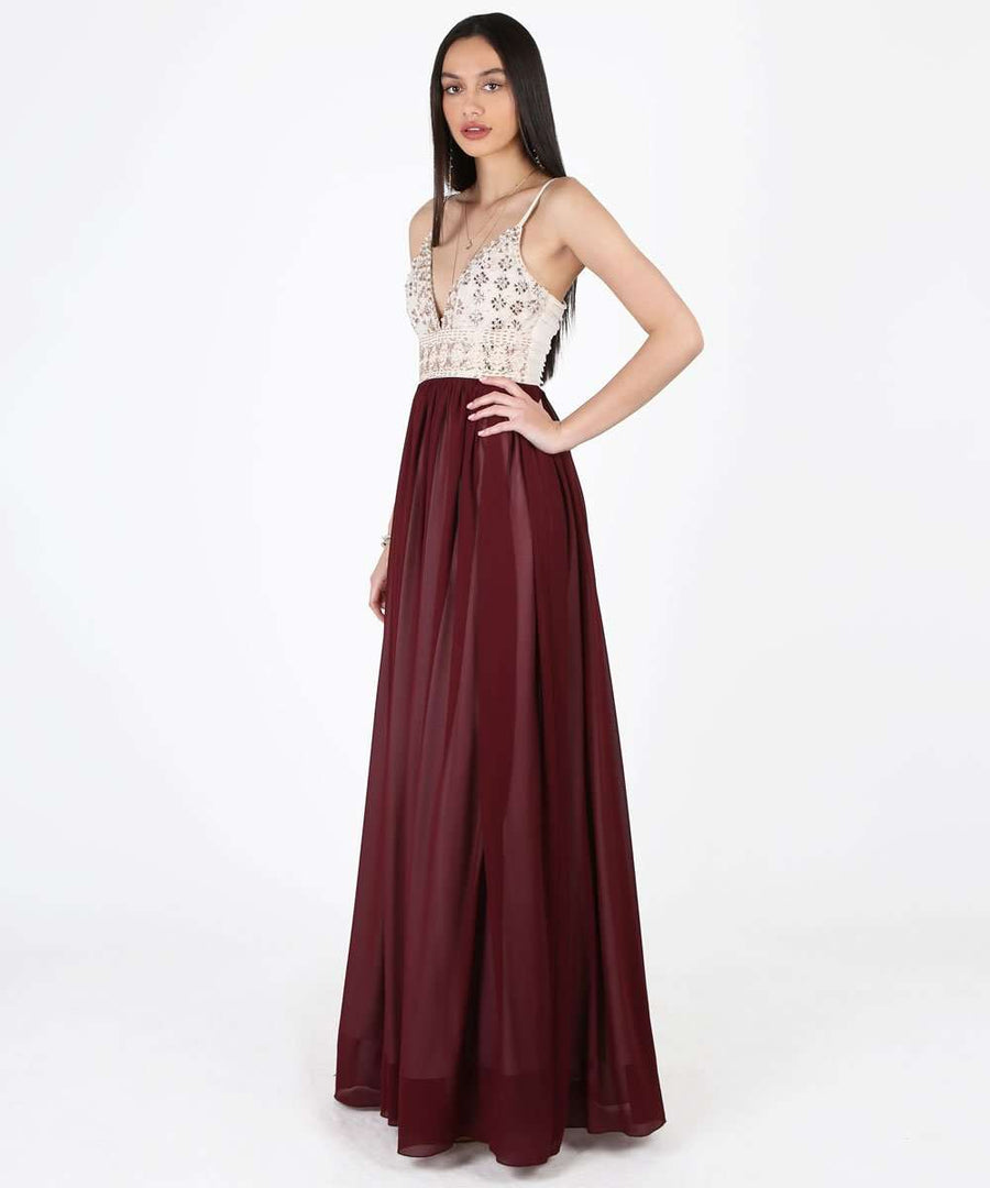Selena Exclusive Beaded Ball Gown Dress-Formal Dress-Speechless