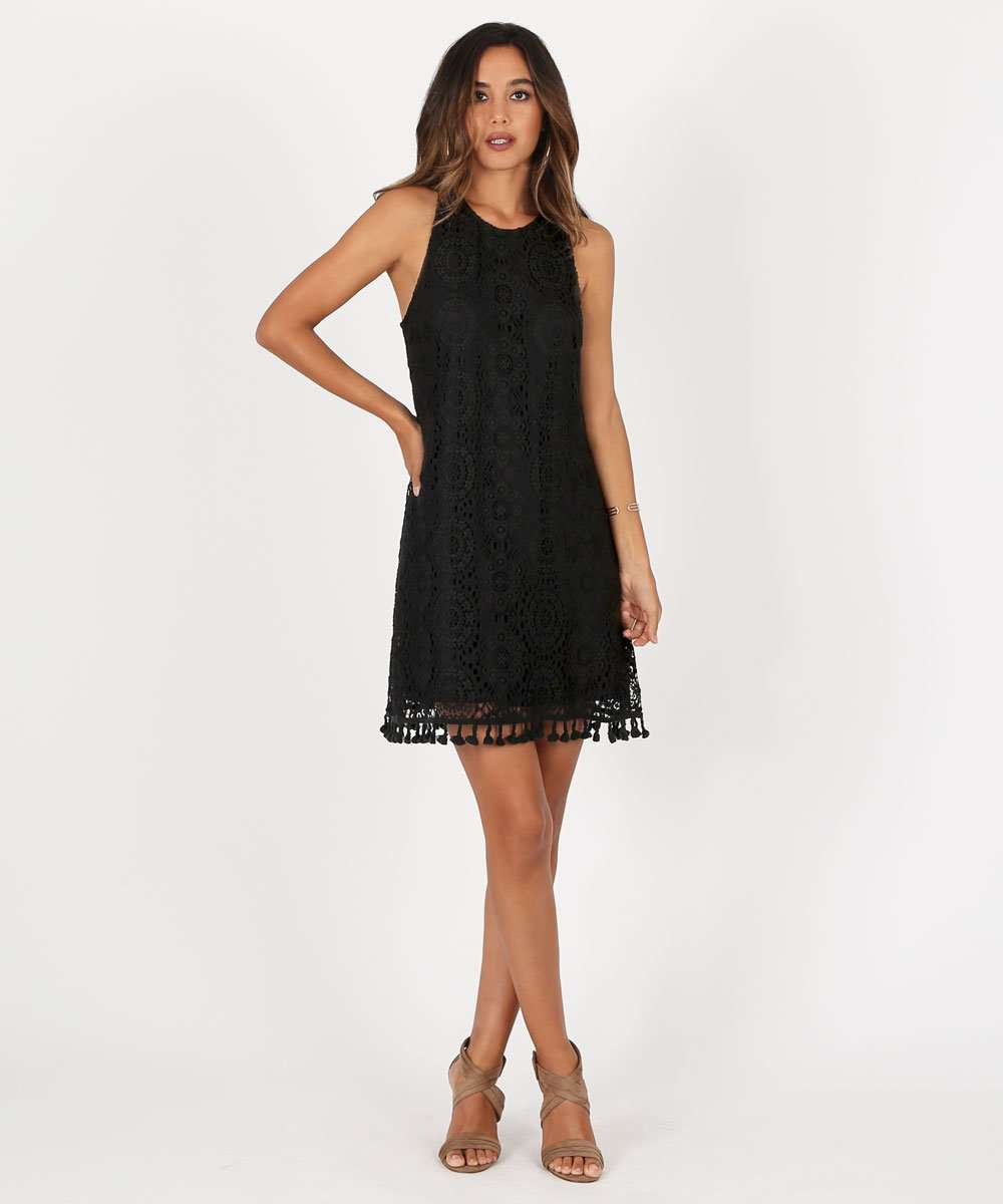 Harper Tassel Swing Dress-Speechless