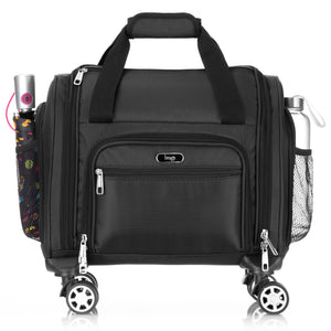 Brags Four Wheeled Spinner Underseat Carry On - Multiple Compartments (Black)