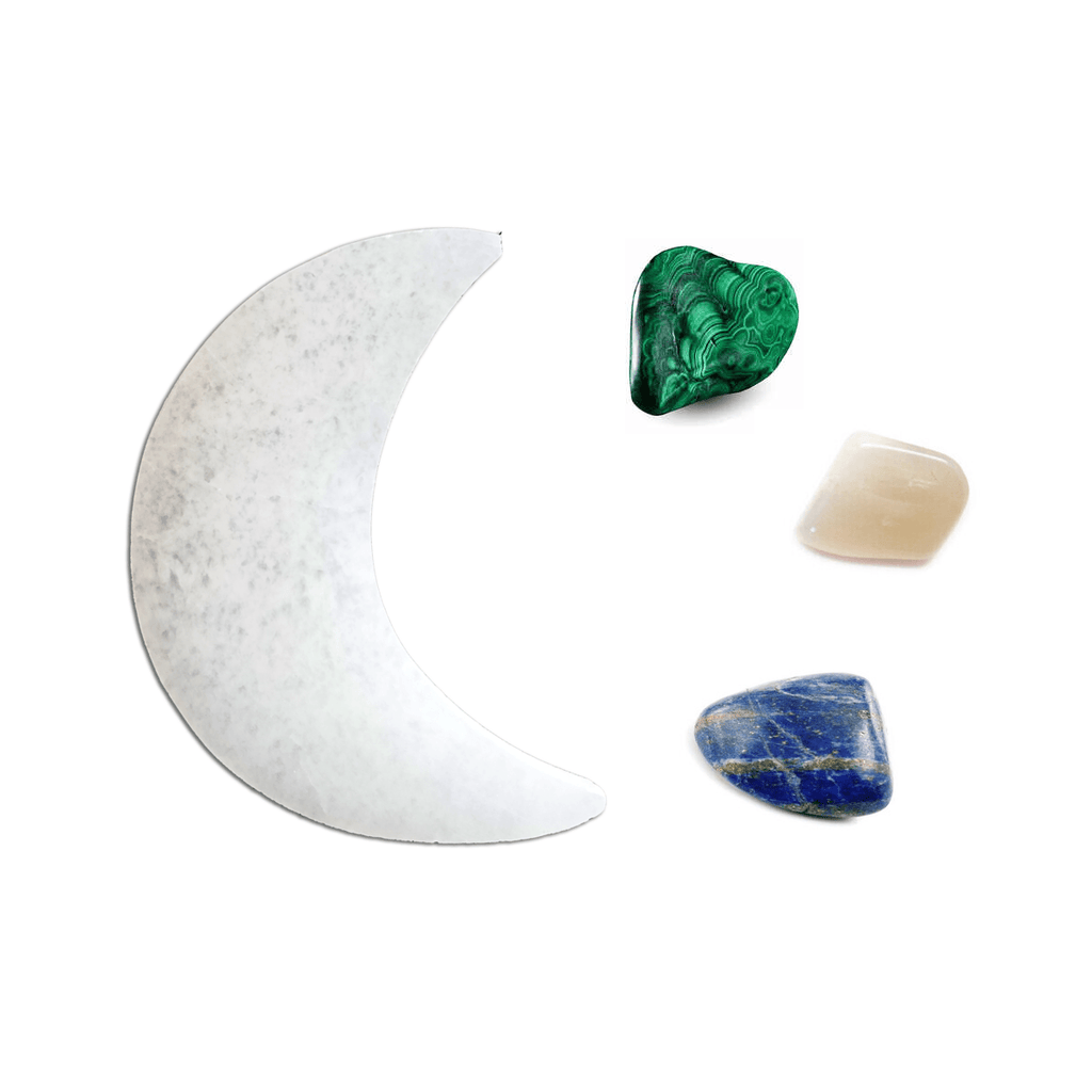 ZODIAC CRYSTAL SET W/ SELENITE MOON CHARGER - Energy Wicks