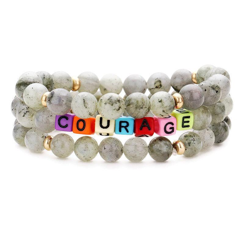 COURAGE LABRADORITE BRACELET SET - Energy Wicks
