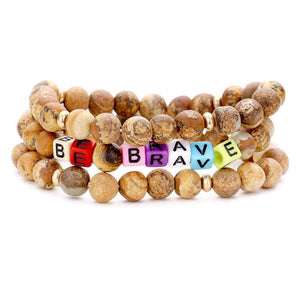 BE BRAVE JASPER BRACELET SET - Energy Wicks