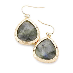 LABRADORITE DANGLE EARRINGS - Energy Wicks