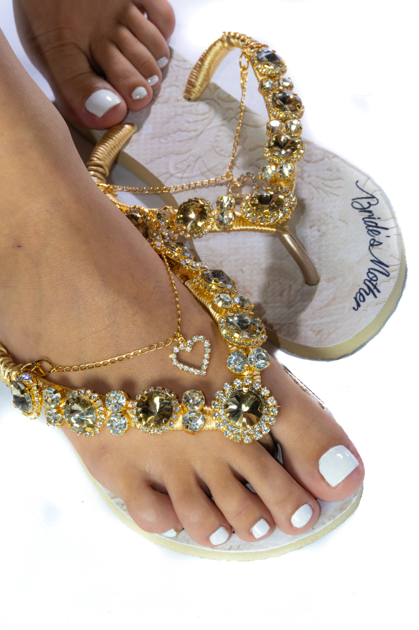 BRIDE'S MOTHER Customized HAVAIANAS, exclusive floral pattern with