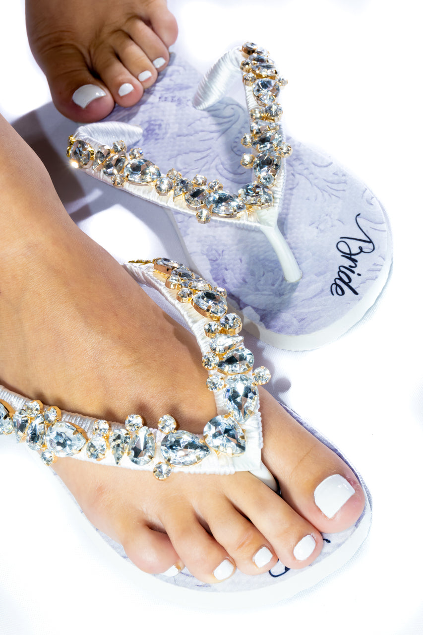 BRIDE Customized HAVAIANAS, exclusive floral pattern with