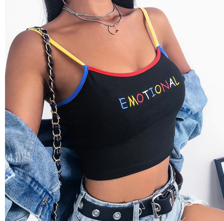 """Emotional"" Crop Top - aesthetic"