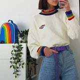 Rainbow Cuff Sweater