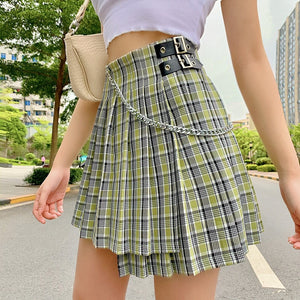 School's Out Plaid Pleated Skirt
