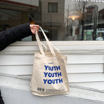 Load image into Gallery viewer, YOUTH Canvas Shopper Bag