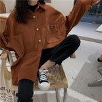 Load image into Gallery viewer, Button-Up Corduroy Shirt - aesthetic