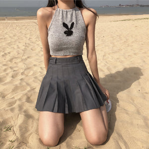 Playboy Bunny Halter Crop Top