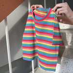 Load image into Gallery viewer, Pastel Stripe Crop Top