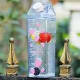 Decorated Milk Carton Water Bottle